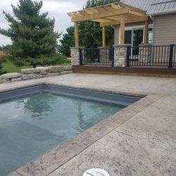 Stamped Concrete Patio In Fort Wayne Indiana.