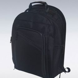 Cut and sew product: black backpack