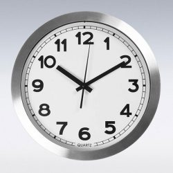 Household products: silver clock