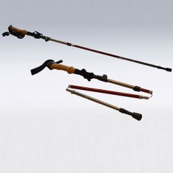 Sporting goods product: hiking poles