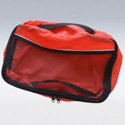 Cut and sew product: red bag