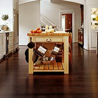 Butcher Block on Dark Wood Flooring