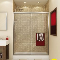 A bpicture of a beautiful shower, renovated by Upscale Bath Solutions.