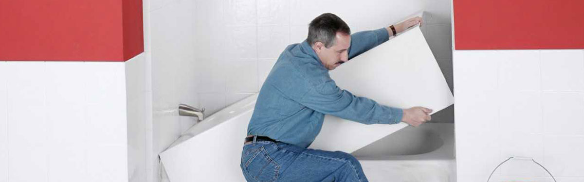 bath liner installation