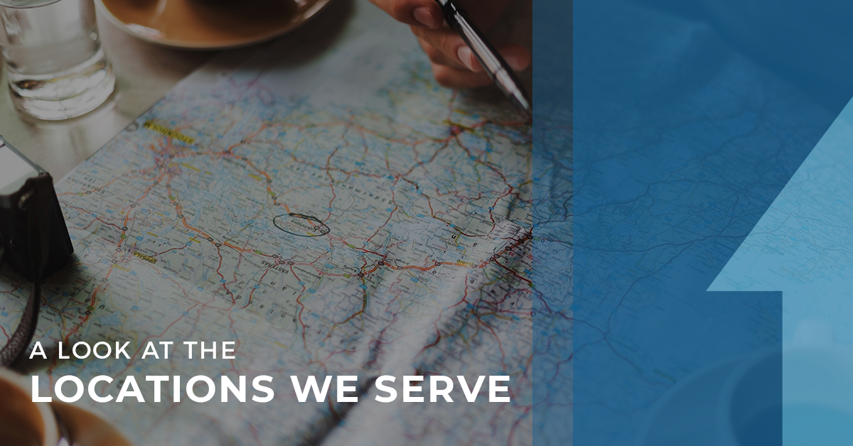 Locations we serve Upwright