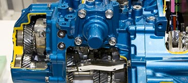 Engine Transmission Closeup