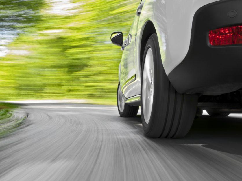 Car Making a Turn