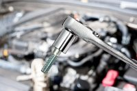Socket Wrench and Bolt
