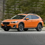 Orange Subaru Vehicle