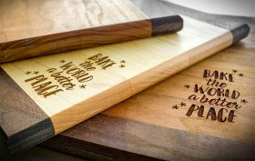 Laser Engraved Wooden Cutting Board