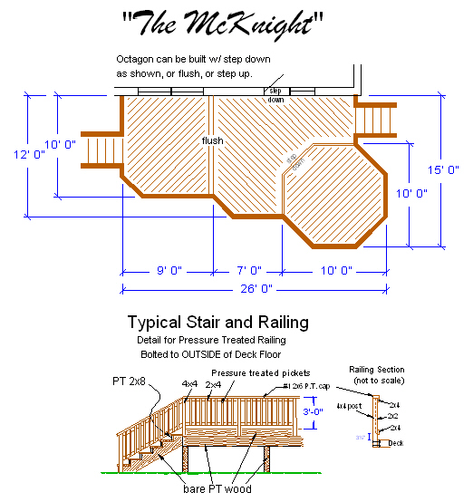 Wood Deck Plans Pdf Home Design