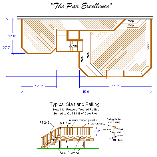 Deck contractors fredericksburg deck company va deck for Porch construction drawings