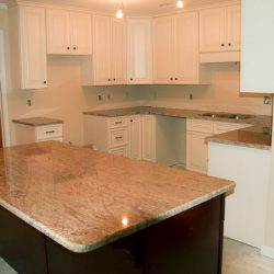 A new kitchen countertop as part of a Tallahassee home remodel from Vanguard North.