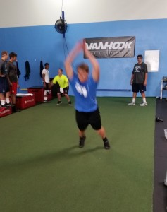 Broad Jumps at Van Hook Training