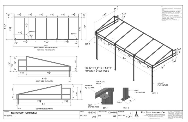 Shop Drawings Door Awnings Garden Canopies Sail Shades More
