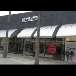 Custom metal awnings for Calvin Klein