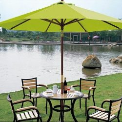Lime green custom commercial shade umbrella