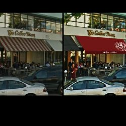 3D entrance awning rendering for The Coffee Bean