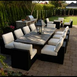 White pad cushions for residential patio furniture