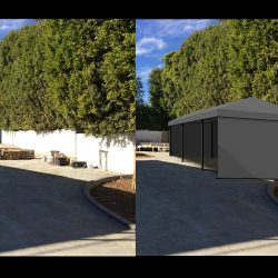 3D carport renderings and awning drawings