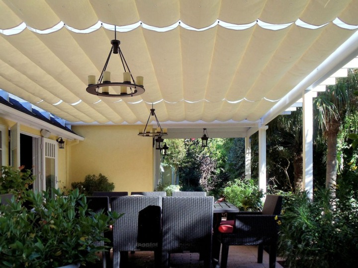 Slide On Wire Sail Shades Canvas Awnings Amp More Van