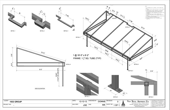 Shop Drawings Door Awnings Garden Canopies Sail Shades