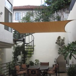 Tan residential sun shade panel