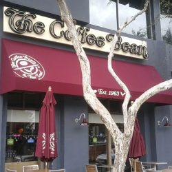 The Coffee Bean's commercial awning with red awning fabric