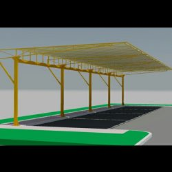 3D carport awning rendering and custom awnings