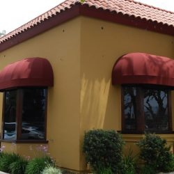 Red dome commercial awnings in Van Nuys