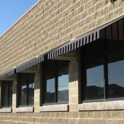 Black aluminum window awnings