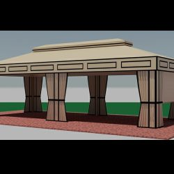 Custom canopy renderings and canopy drawings
