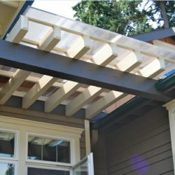 Custom residential trellis cover with custom awning fabric
