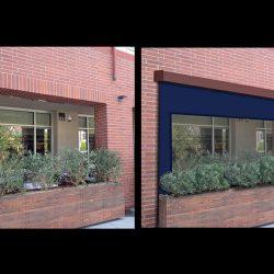 Retractable sun shade 3D rendering