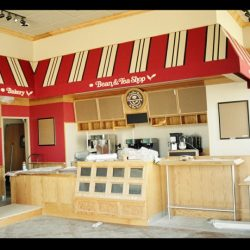 Commercial awning for the Coffee Bean with custom awning graphics