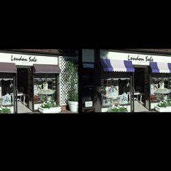 3D renderings of custom window awnings for London Sole