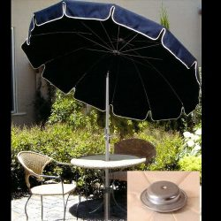 Custom navy blue residential umbrellas