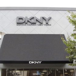 Custom commercial awnings for DKNY