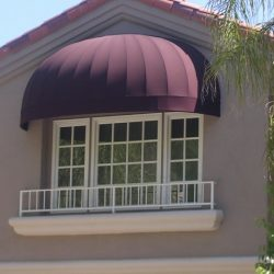 Residential dome awning for a balcony