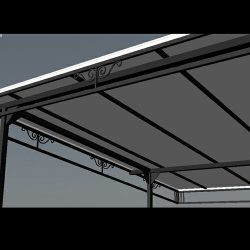 Custom metal awnings and 3D awning renderings
