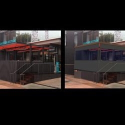 3D patio rendering for Cafe Gratitude