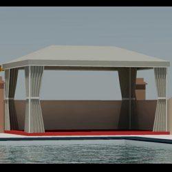 3D cabana drawings and patio renderings