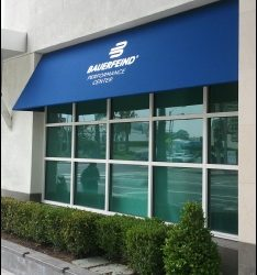 Bauerfeind custom storefront awning