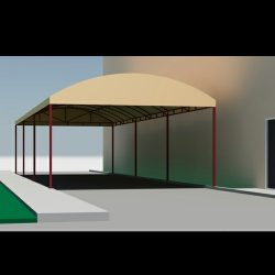 Custom Van Nuys canopy design and 3D renderings