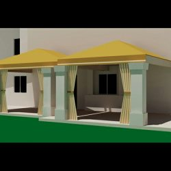 Gold 3D canopy renderings