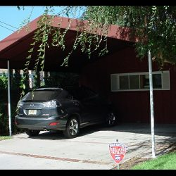 Custom residential carport awning