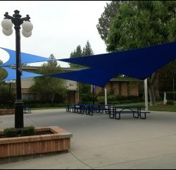 Blue sail sun shades in Van Nuys