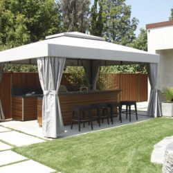 Residential cabana for an outdoor kitchen area