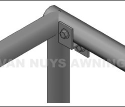 Custom metal awning drawing for a Van Nuys client