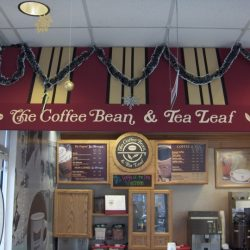 Indoor commercial awning for The Coffee Bean